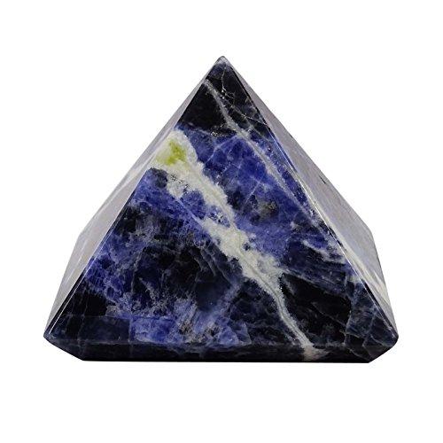 Harmonize generador de energía Sodalita pirámide de Piedra Reiki curación de Cristal