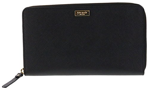 Kate Spade New York Laurel Way Talla Saffiano Leather Wallet Clutch (Black)