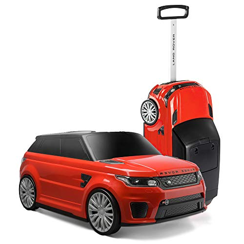 Range Rover On Suitcase, Red Official Sport SVR Convertible Kids Ride On & Suit Case, Rojo, Color Rosso (Toyrific TY6108RD)
