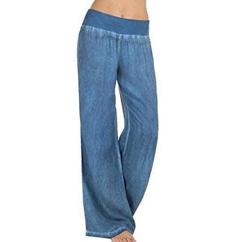 junkai Mujer Pantalones, Vintage Bootcut Pantalones Casual Cintura Alta Pantalón Imprimir Elegantes Pantalones cómodos Suaves Pantalones Modernos Mujeres Sports Danza Partywear XS-4XL