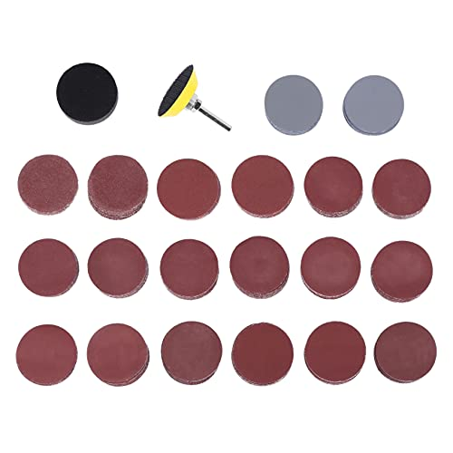 BEAUY 200Pcs 50Mm 2 Pulgadas Lijadora de Disco Discos de Lijar 80-3000 Lija de Grano Abrasivo con 1 Pulgada Pad Polaco Placa + 1/4 Pulgadas de la Caaa de la Herramienta Rotatoria
