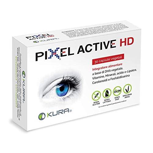 PIXEL ACTIVE HD, INTEGRATORE PER IL BENESSERE DELLA VISTA E MIGLIORAMENTO PERFORMANCE COGNITIVE (CONCENTRAZIONE, MEMORIA) (1)