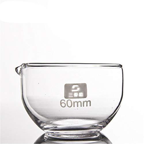 juler Glaswaren Labware Analytische Chemie Glasboden mit flachem Boden Verdampfungsschale 60 mm BORO3.3-Material mit hohem Borosilikatgehalt,Transparent,150 Mm