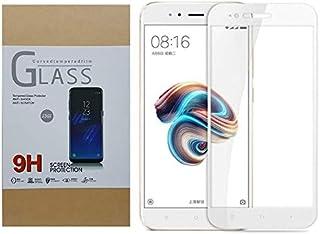 Xiaomi Redmi Note 5A Prime Tempered Glass Full Cover Screen Protector - White