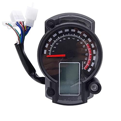 MEQNOIG Velocímetro de Motocicleta, odómetro Digital LCD con Lente Transparente para RX2N MAX 299KM / H, odómetro de tacómetro Ajustable para Moto