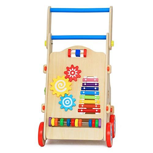 Best Buy! HANXIAODONG Baby Push Walker Girl&Boy Walker Toy Infant Wooden Activity Baby Walker Wooden...