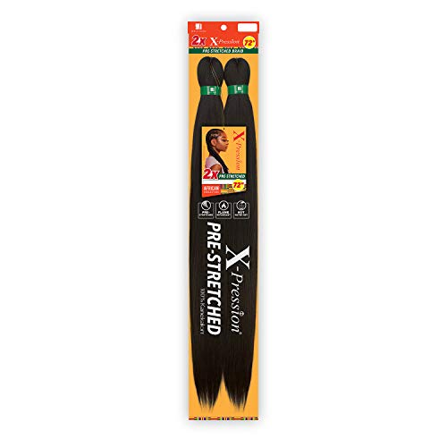 Sensationnel Crochet Braids African Collection 2X X-Pression Pre-Stretched Braid 72' (5-pack, 2)