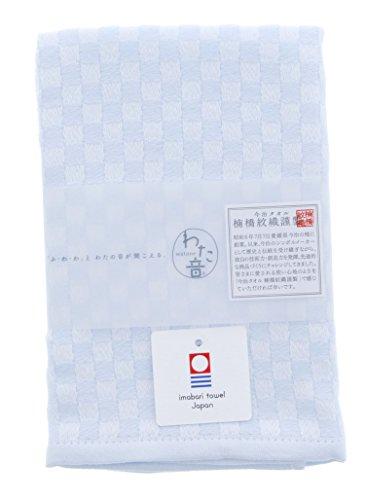 楠橋紋織 今治タオル ハンカチ わた音 しゅす織り ブルー 1-60070-11-PAP 35.5×35cm