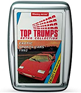 Holland Plastics Original Brand Exotic Sports Cars - 1992! Retro Top Trumps Card Game - A Great Gift and Nostalgic Challenge!