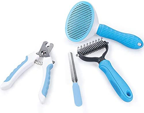 4Pcs Dematting Tool for Dogs Self Cleaning Slicker Brush Double Sided Rake Brush for Cats Dogs product image