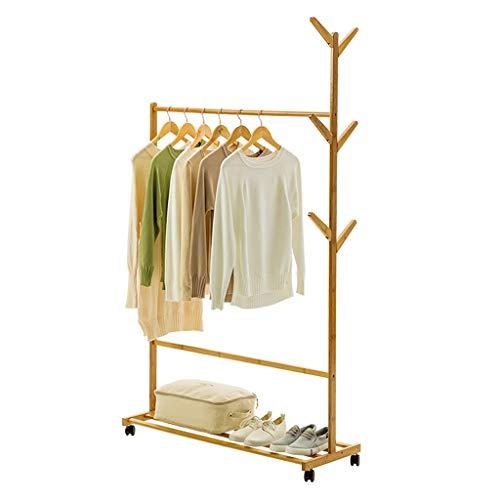 Perchero Robusto soporte de la capa estante de madera, Puerta de entrada Hall Tree Escudo de árbol con base redonda sólida for el sombrero, ropa, monedero, bufandas, bolsos, paraguas, 6 ganchos Estant