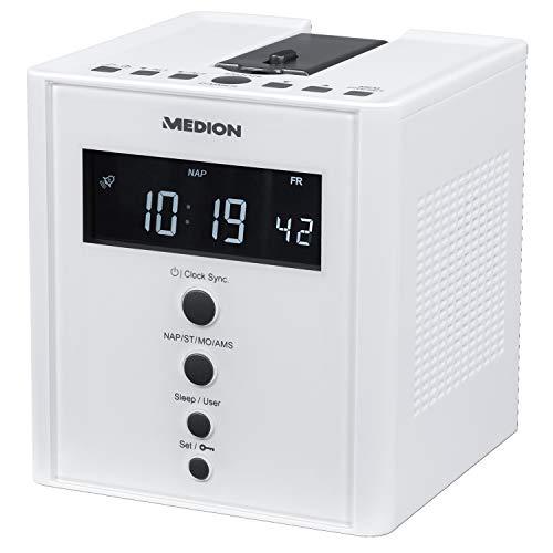 MEDION MD 43562 E66395 Projektions-Uhrenradio mit Weckfunktion PLL UKW weiß