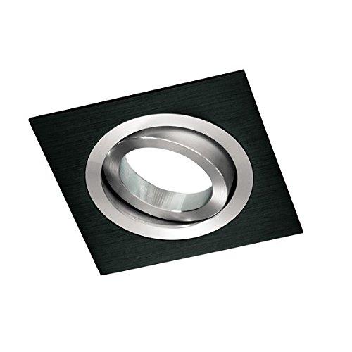 Wonderlamp Clasic W-E0 Foco empotrable cuadrado, Negro, 1 UNIDAD