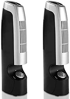 GOFLAME Air Purifier 2 PCS for Allergies Germs Dust Pets Smoke Pollen Odors Air Cleaner with Whisper 2 Speed OperationsSil...