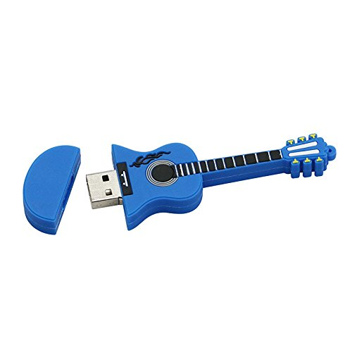 16GB Guitarra Azul USB Flash Drive pendrive Pen Drive USB 2.0 Flash Drive Memory Stick U Disco: Amazon.es: Electrónica