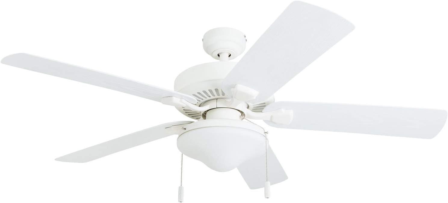 Honeywell Ceiling Fans 50513-01 Belmar Outdoor LED Ceiling Fan, ABS Weatherproof Blades, White