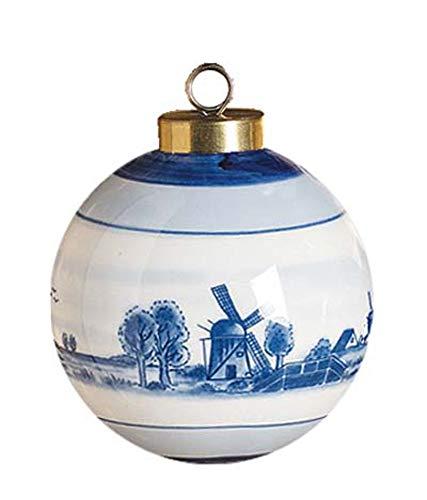 Dutch American Imports Delft Ball Christmas Ornament
