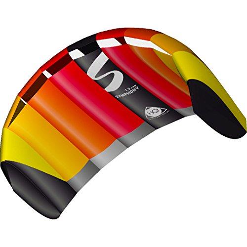 HQ 11769150 - Symphony Pro 1.3 Rainbow Zweileiner Lenkmatten, ab 8 Jahren, 55x130cm, inkl. 45 kp Blendlineschnüre 2x20m auf Winder mit Schlaufen, 2-6 Beaufort