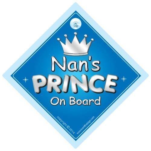 Nan voiture de Prince On Board Panneau, Nan, panneau voiture Prince, Prince On Board, Gran, Nana, voiture Panneau, panneau bébéà bord, nouveauté voiture Panneau, signe pour voiture (720)