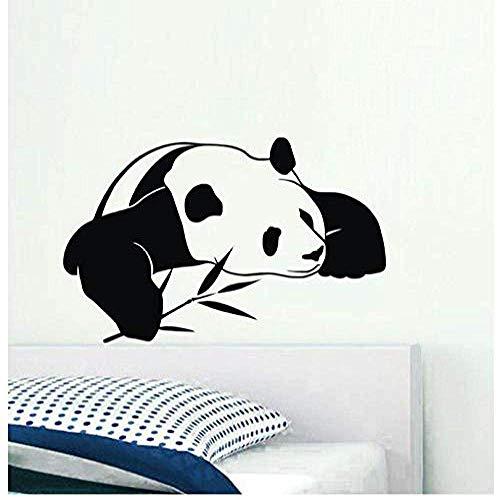 Muursticker Chinese Panda Zet Bamboe Kerstmis Decal PVC Vinyl Woonkamer Woonkamer Raam Badkamer Kantoorslaapzaal Shop Decor 59x95cm