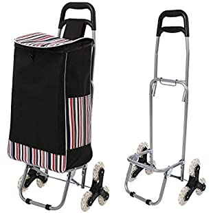 Simlive Tri-Wheel Folding Shopping Trolley Lightweight Stair Climbing Cart with Removable Waterproof Nylon Bag for Indoor/Outdoor/Travel/Office:Porcelanatoliquido3d