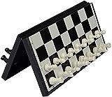 ZWJ Internacional de Ajedrez Set de Ajedrez de 32 cm - Adulto plegable portátil y blanco piezas de ajedrez de ajedrez magnético niños 's juguetes educativos tridimensionales de ajedrez