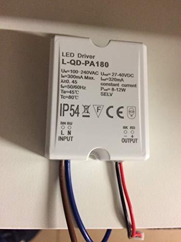 LED Driver IP54 8-12W 27-40V 320mA L-QD-PA180 Trafo Power Supply