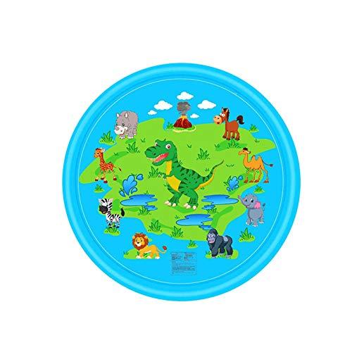 HJKPM Cojín De Agua Inflable para Bebé De 170 Cm, Estera De Aspersión De Piscina para Niños, Pat Pad Prone,Azul