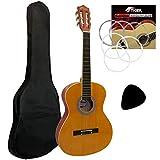 Tiger CLG-34 - Guitarra clásica (tilo, tamaño 3/4), color natural