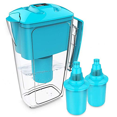 OXA Alkaline Water Filter Pitcher - 2.5L Pure Healthy Water Ionize, Two x 60-Day Filters, BPA-Free, Clean Toxin-Free Mineralized Alkaline Water Purifier