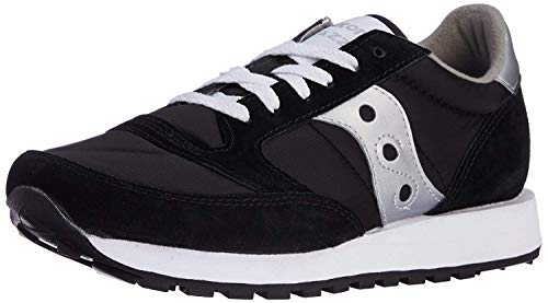Saucony Men's Jazz Original Sneaker, Black/Silver, 10.5 M US