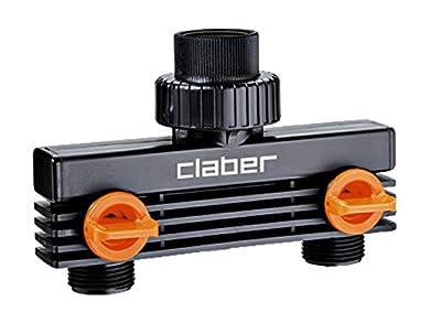 Foto di Claber 87207 BL. Presa Rub. 2 Vie 3/4-M 8589, Nero/Arancione/Grigio, 155x55x240 cm