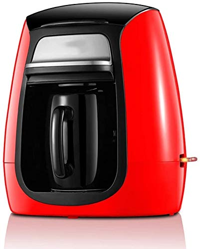 Koffie Machine Tea Filter Amerika Style Automatische thuiskantoor Electric Single keramische cup Grinding Portable Kleine espresso koffiemachine 300W, Red flessenwater dljyy