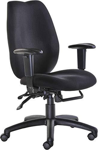 Fabric Manager-Sitzmöbel - Operator Chair mit hoher Rückenlehne und verstellbaren Armen - Schwarz (CWL300K2-K) H1180xB1260xT650