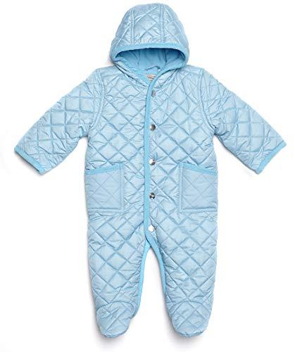 Leveret Quilted Baby Snowsuit (6 Months, Lt Blue)