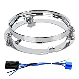 7inch Round Headlight Ring Mounting Bracket and 7 inch LED Headlight Wire...