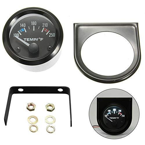 Dogggy 2 52Mm 100-250 ° F Wassertemperaturthermometer Temperaturanzeige 12 V Universal Fahrzeug 1 StüCke
