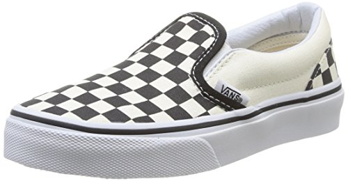Vans Youth Classic Slip-On Shoes Checkerboard Black/White Size 3