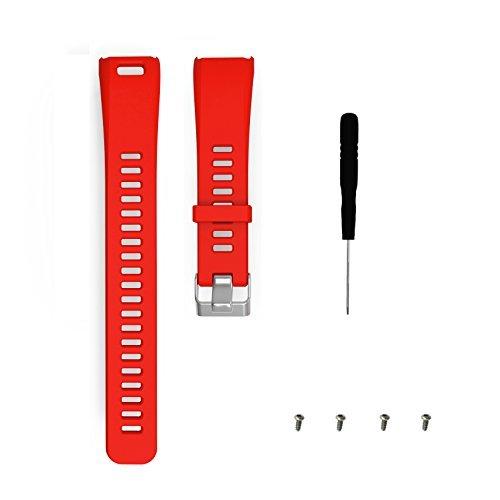 WEINISITE Bracelets pour Garmin Vivosmart HR,Couvercle de Protection pour HR,Souple Silicone Remplacement Bracelets pour Garmin Vivosmart HR Trackers d'activité (Rouge)