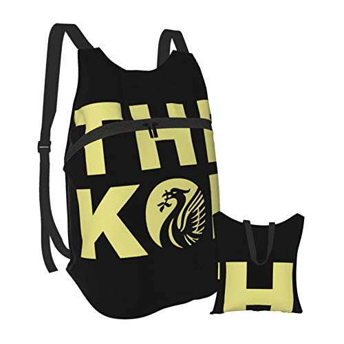 The Kop LFC Light Folding Backpack Foldable Portable Travelling Pack Casual Backpack for Hiking Camping Sports School for Men Women