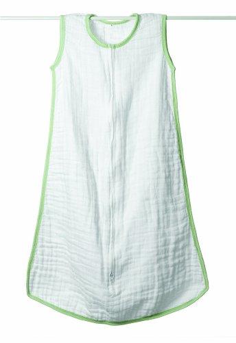 aden + anais - 8042 - Dreamer - Gigoteuse d'été en mousseline de coton - Blanc / Vert - Small