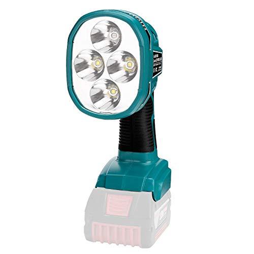 KKmoon Compatible con BOSCH Light Li-on LED Work Light 12W Tipo de Luz Manual Herramientas Eléctricas 14.4-18V (Sin Batería, Sin Cargador)