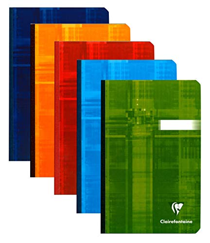 Clairefontaine 69602C Schulheft broschiert kariert 11x17 192 Seiten 5er Pack