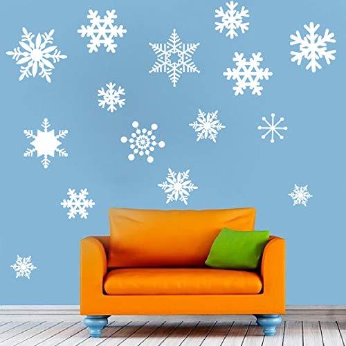 659ParkerRob Pegatinas de nieve para ventana, pegatinas de pared de nieve, copos de nieve, papel pintado de nieve, autoadhesivas, para colgar en la nieve