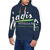 Billy Madison Radisson Hotels Mix - Sudadera con capucha y bolsillos de terciopelo para hombre