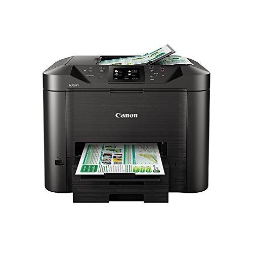 Canon MAXIFY MB5450 Farbtintenstrahl - Multifunktionsdrucker (DIN A4, 4-in-1 Scanner, Kopierer, Fax, Farbdisplay, 600 x 1200 dpi, WLAN, USB, Duplexdruck, Cloud Link) schwarz
