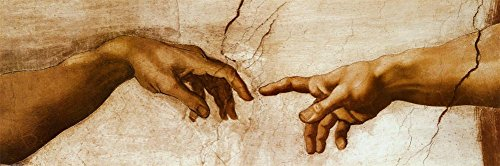 The Creation of Adam, c.1510 (detail) Poster by Michelangelo Buonarroti 36 x 12in