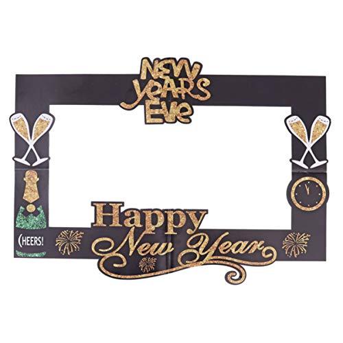 Amosfun Marco de Selfie de Año Nuevo 2020 Marcos de Fotos de Nochevieja Accesorio de Fotos de Fiesta Año Nuevo