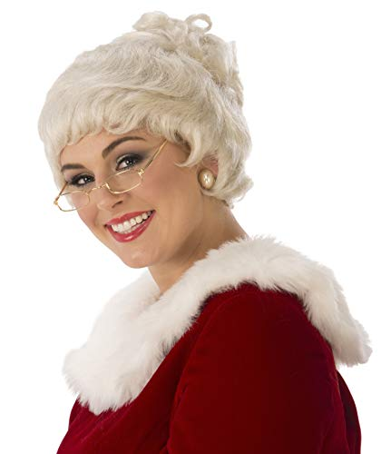 Rubie's womens Deluxe Mrs. Claus Costume Wig, White, One Size US
