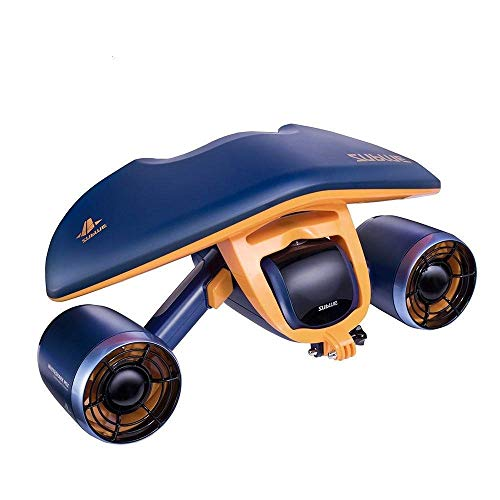 SANON Huaban Hybrid Underwater Scooter Diving Swimming Float Diving Underwater Propeller,Blue WTZ012 (Color : Blue)